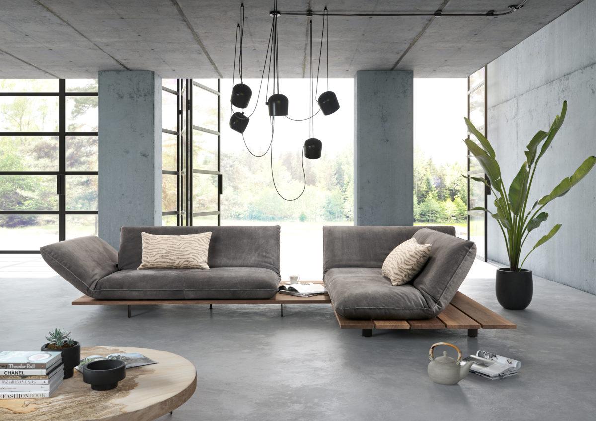 Sofa AKITO MILIEU Der Firma Bullfrog Design