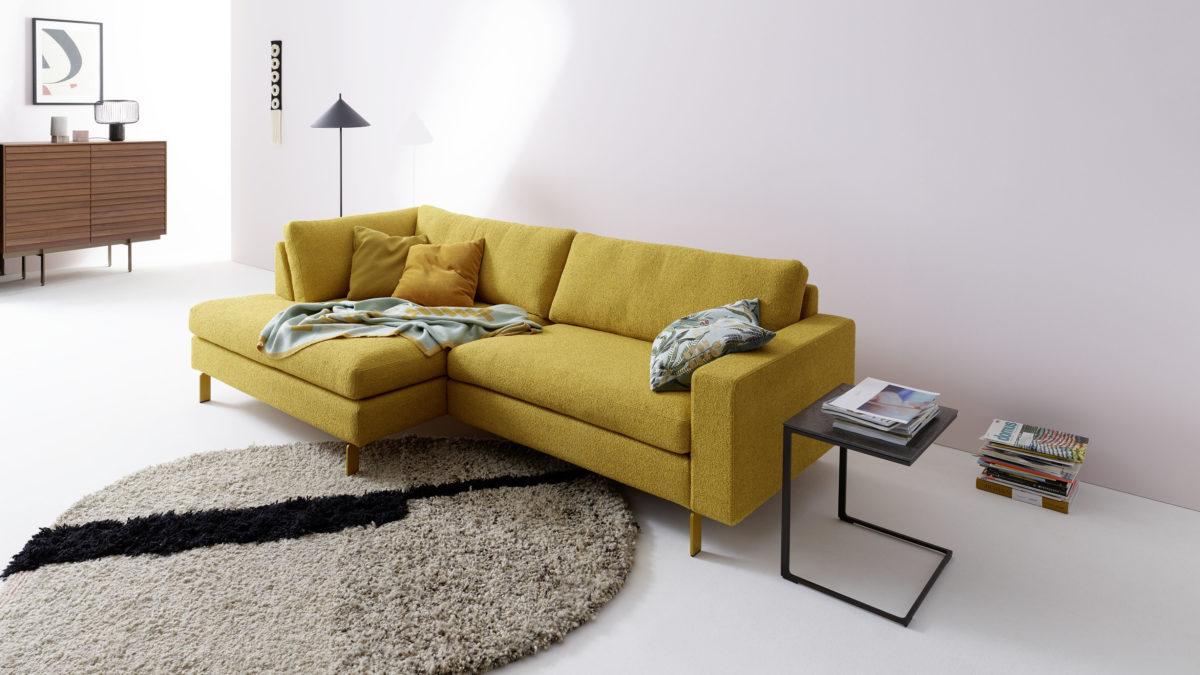 Sofa CONSETA Der Firma COR Stoff Corn Schmalfuß lackiert