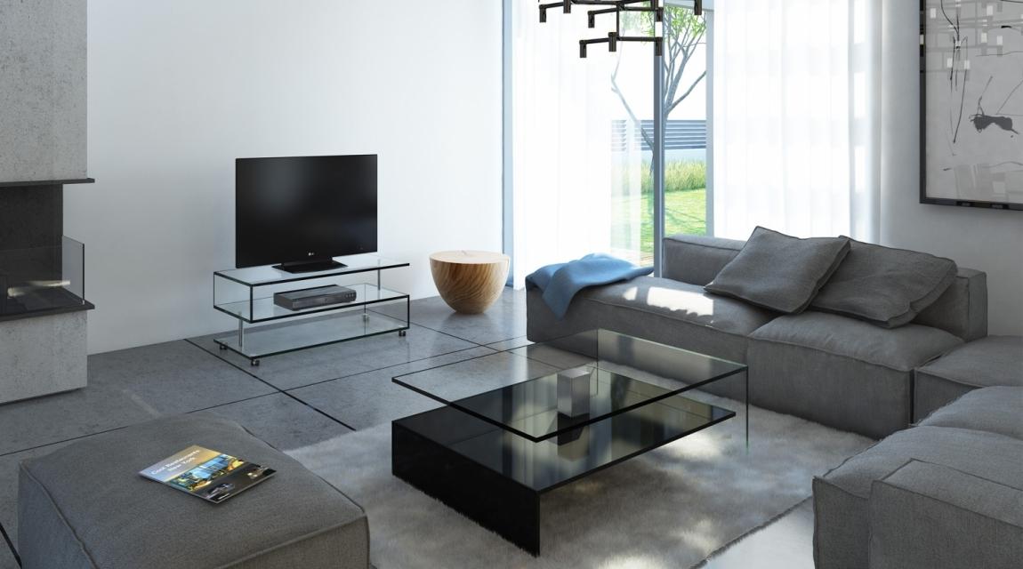 Couchtisch NUO, Fernsehtisch JANUS X Glasmöbel, Glasvitrinen, Couchtisch, Glasregale, Glaskonsolen, Schreib/Esstische, Fernsehtische aus Glas Der Firma DREIECK DESIGN
