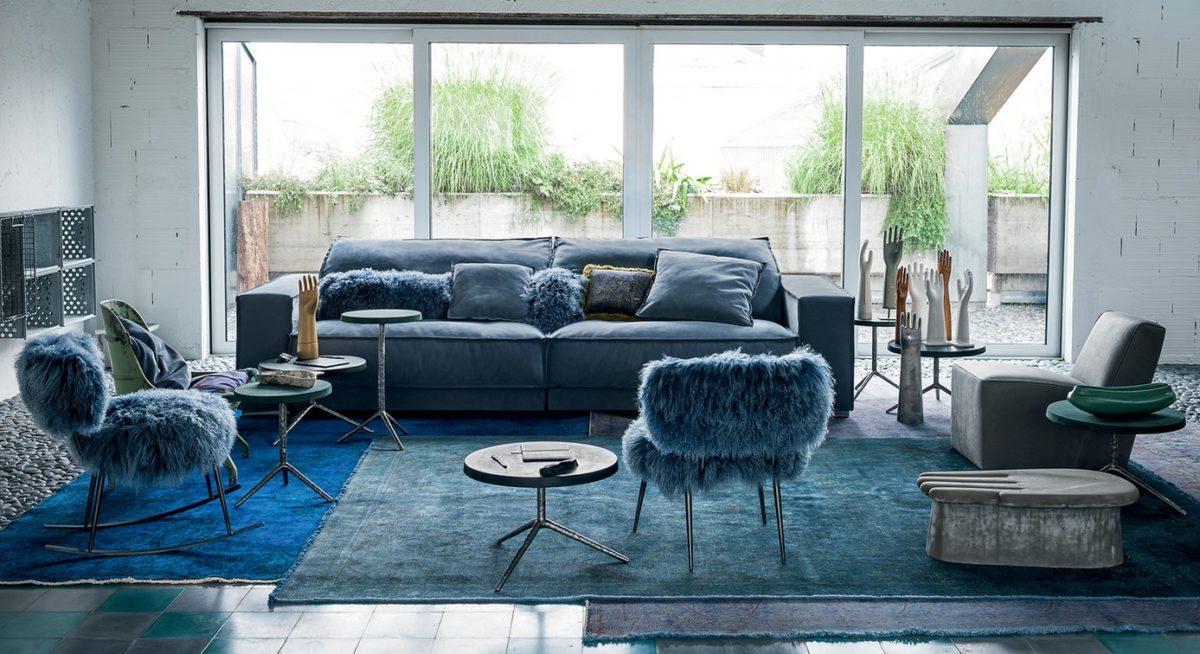 Sofa Budapest Soft, Stühle NEPAL/ DECOR, Sessel GRAZ BABY, Beistelltische LIQUID  von Baxter