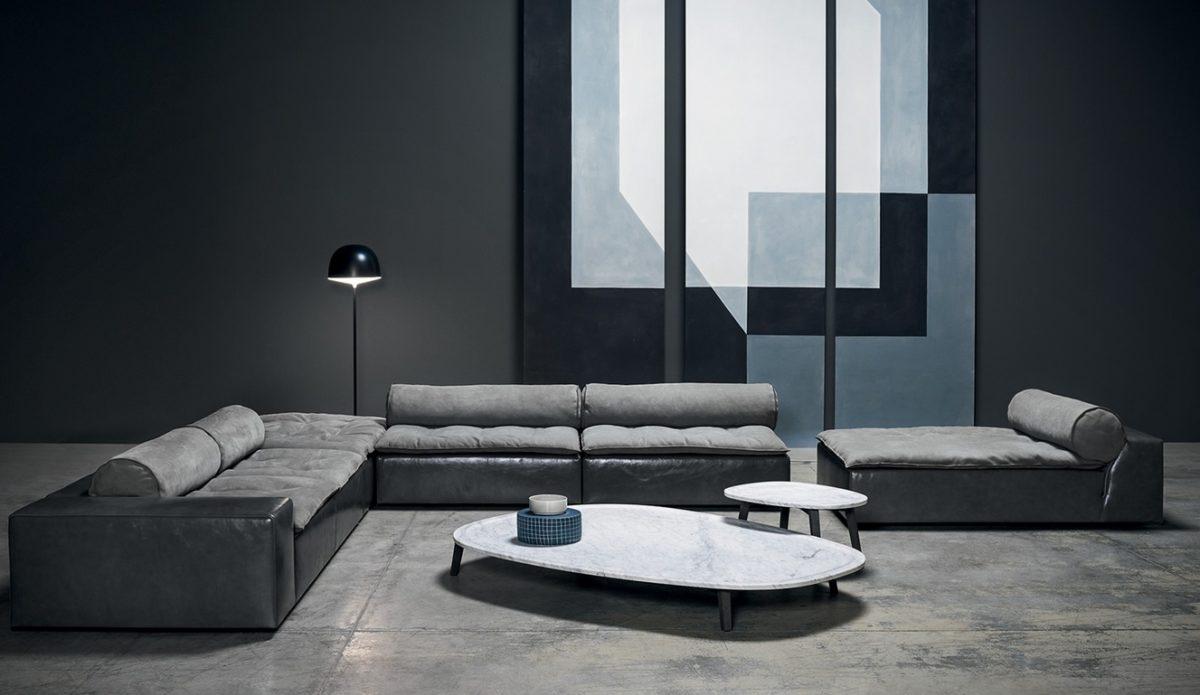Sofa HOUSSE MONO, Beistelltische VIETRI von Baxter