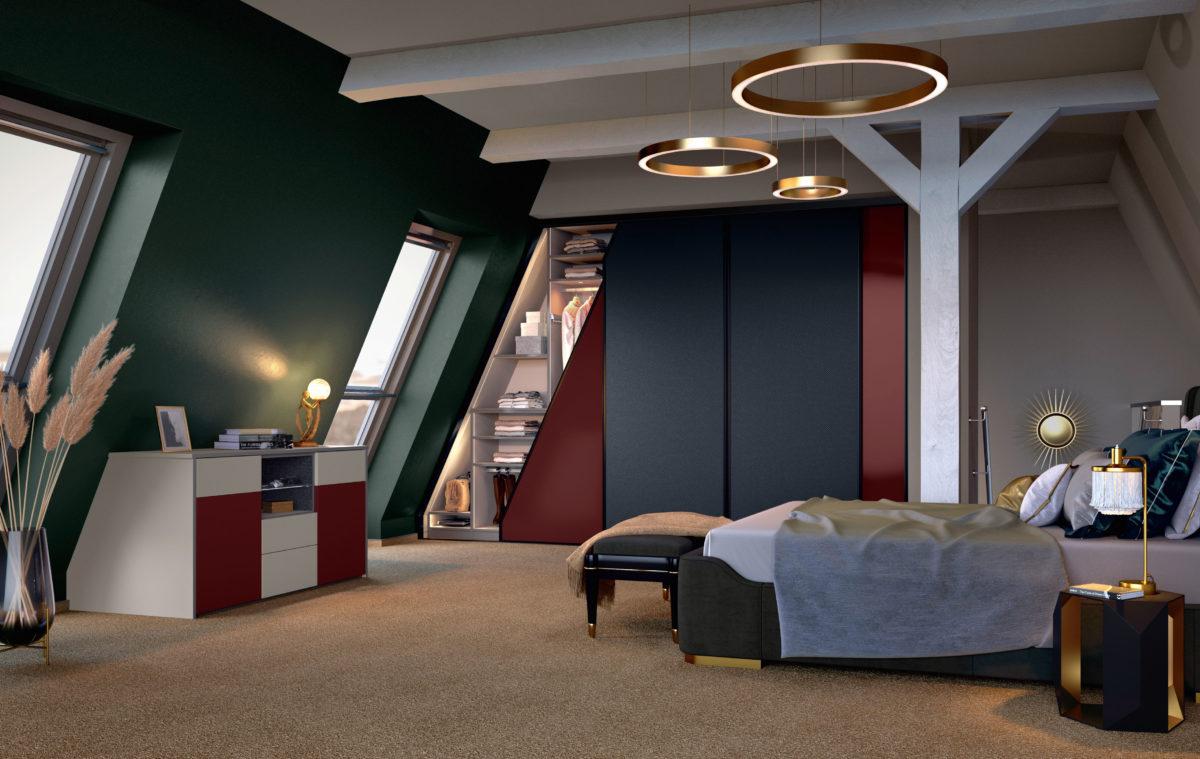 Dachschrank, Schrank, Sideboard  System Girado Der Firma Cabinet