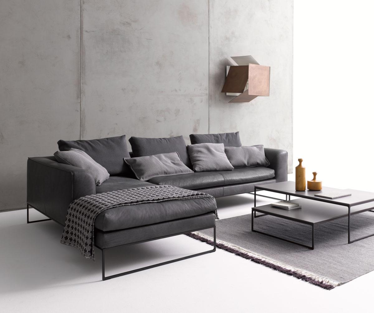 MELL LOUNGE Sofa  mit Sitzkissen Vorzugskombination, Liegenelement, Abschlußelement, Abslussliegeelement. Der Firma COR