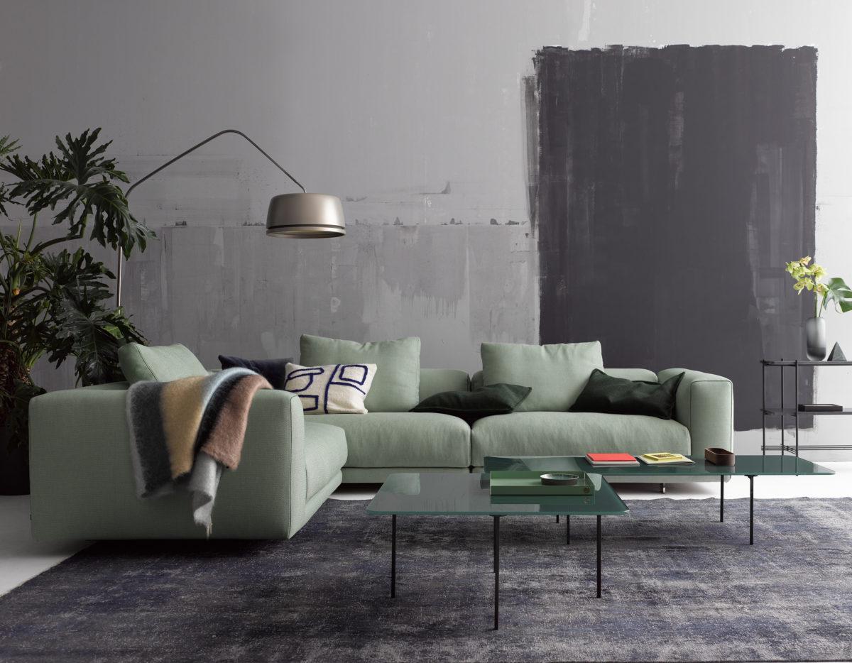 MOSS Sofa wahlweise in 3 Breiten, Abschlusselement Der Firma COR