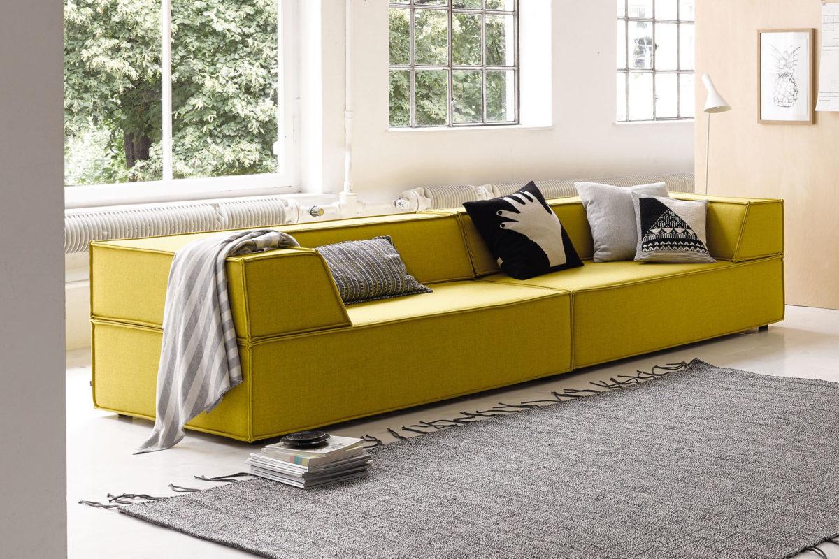TRIO Modulares Sofa, Hocker Der Firma COR