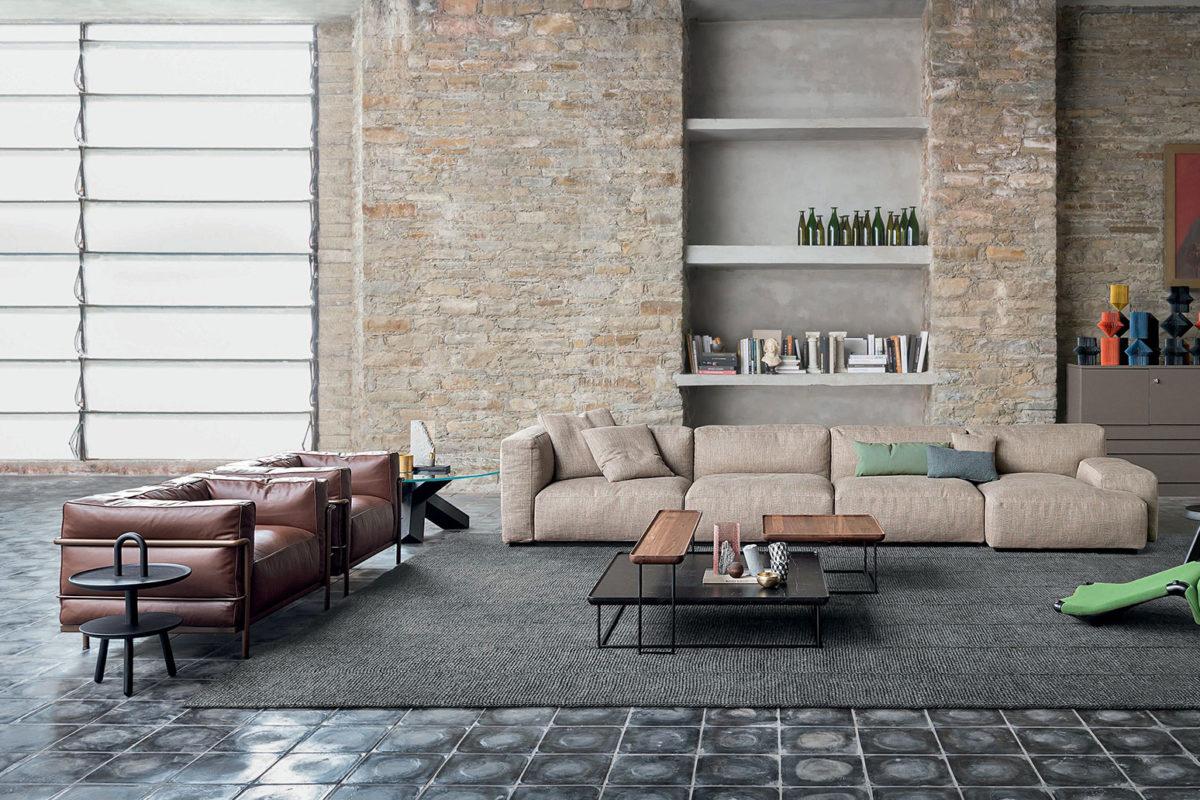 Stuhl LC1, Sessel LC2, Sofa LC3,  Chaiselongue LC4 Le Corbusier Der Firma Cassina