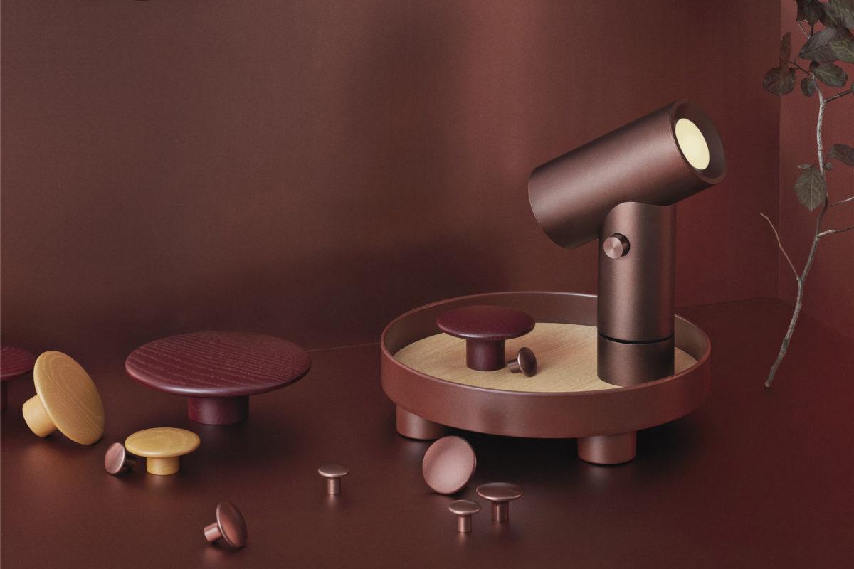 Beleuchtung Beam, Tablett Platform Try , Wandhacken Dots Der Firma Muuto