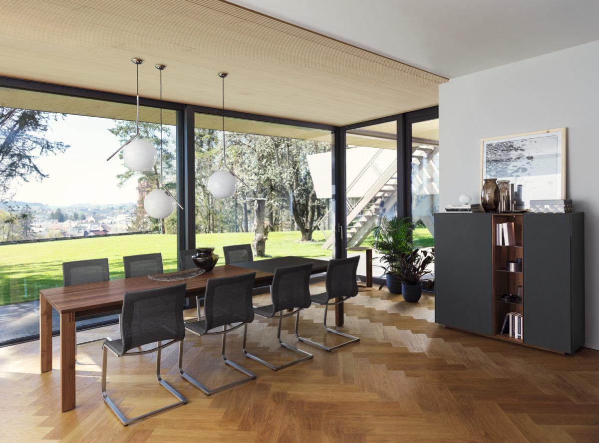MAGNUM Tisch, STRICKTIX Stuhl Der Firma TEAM 7