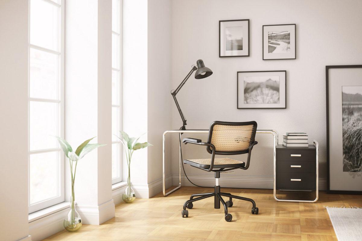 von THONET Schreibtisch S 285, Sessel S 64 VDR