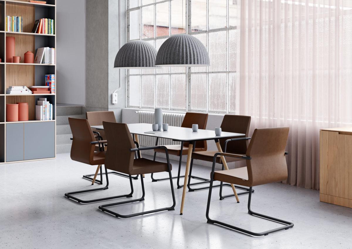 MY TURN Konferenzstuhl SAM Tisch Der Firma Profim