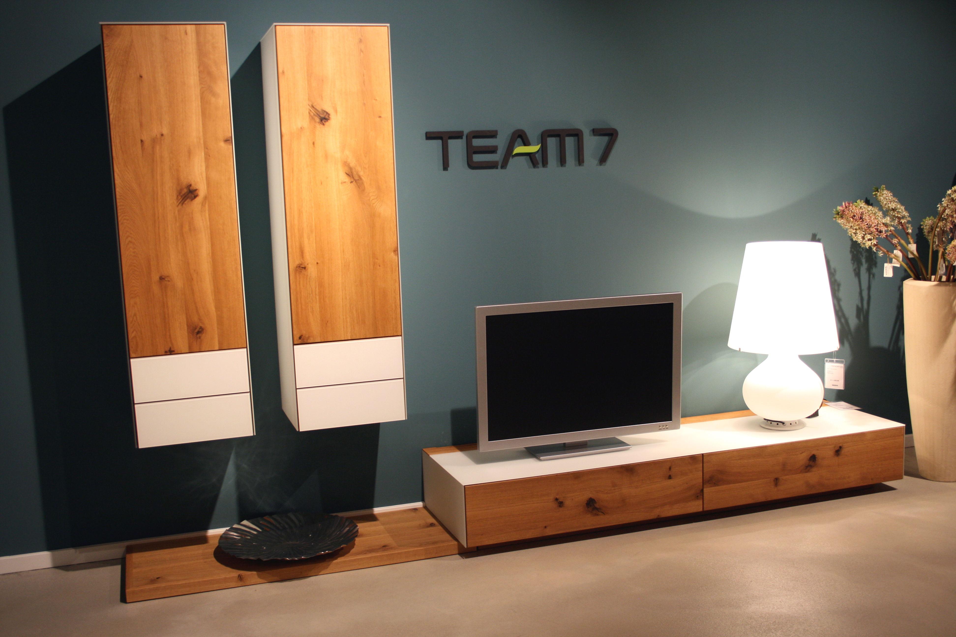 team7 wohnwand cubus pure tendenza. Black Bedroom Furniture Sets. Home Design Ideas